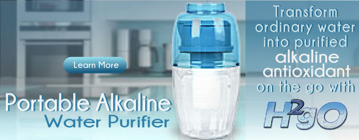 H2gO Portable Alkaline Water Purifier